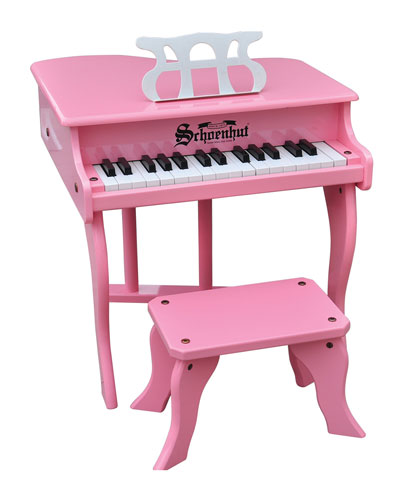 30-Key Fancy Baby Grand Toy Piano, Pink