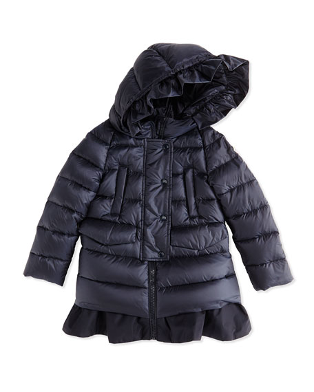 moncler ruffle coat