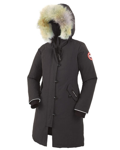 Youth Brittania Parka with Removable Fur Trim, Graphite, Youth S-L