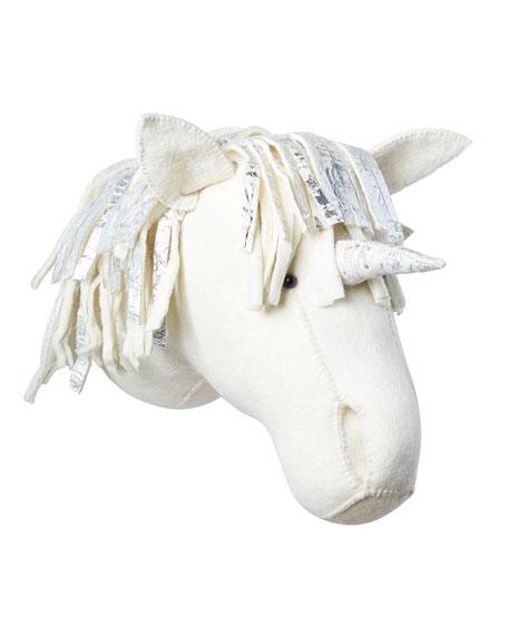 Metallic Unicorn Head Wall Mount