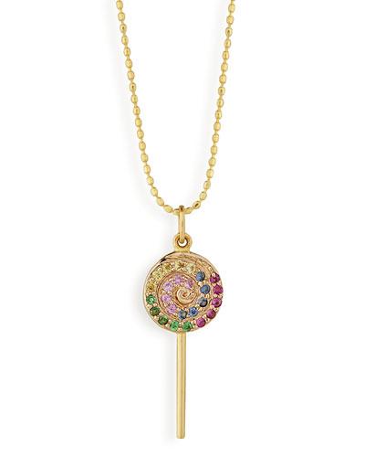 14K Lollipop Pendant Necklace