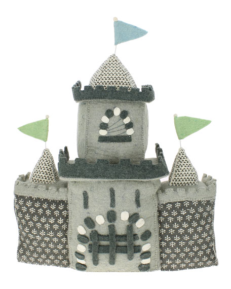 Wool Felt Castle, Gray