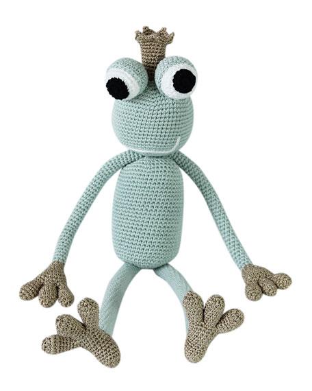 King Froggy Crocheted Stuffed Animal