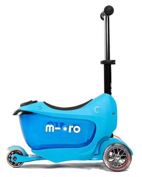 micro kickboard mini2go 3 in 1 scooter blue. Black Bedroom Furniture Sets. Home Design Ideas