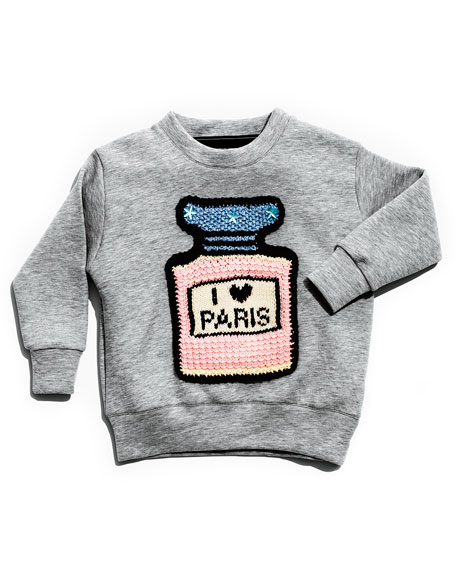I ♥ Paris Sweatshirt, Gray, Size 3-10