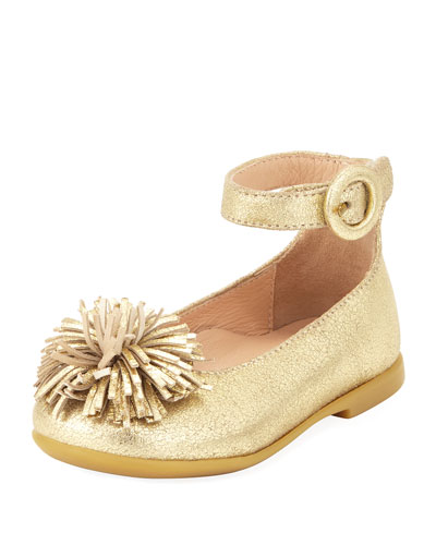 Sunshine Metallic Ballerina Flat, Gold, Toddler/Youth
