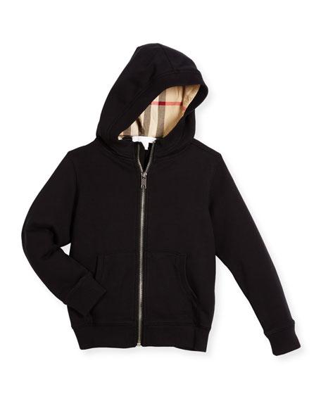 Pearcy Hooded Jersey Sweatshirt, Black, Size 4-14