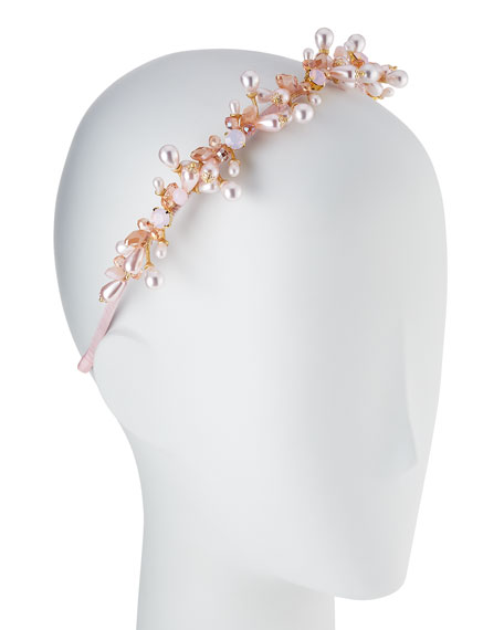 Girls' Jeweled Headband, Pink