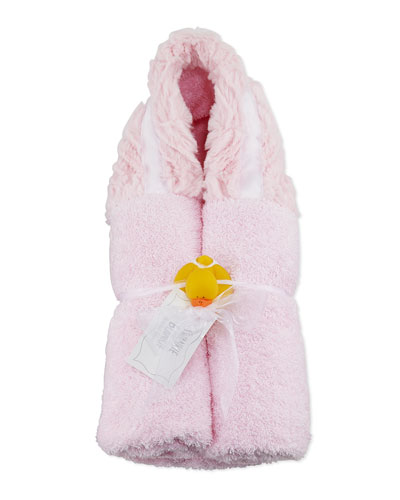 Ziggy Hooded Towel, Pink