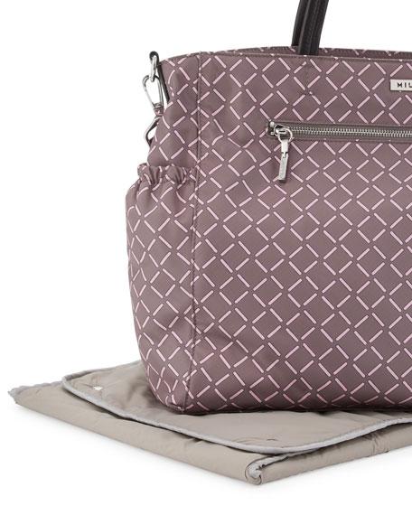 Printed Diaper Bag, Gray