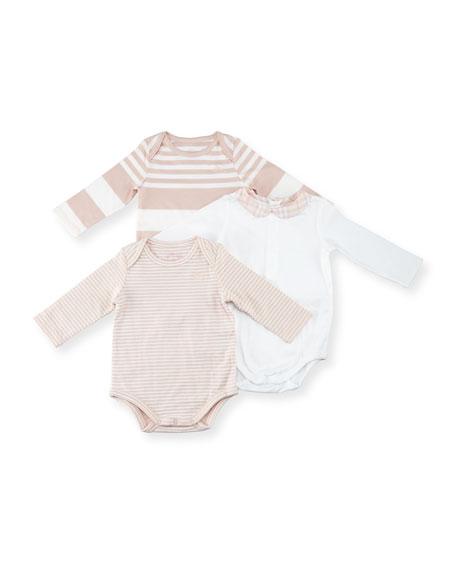 Maxina Set 3 Long-Sleeve Layette, Pink, Size Newborn-12 Months