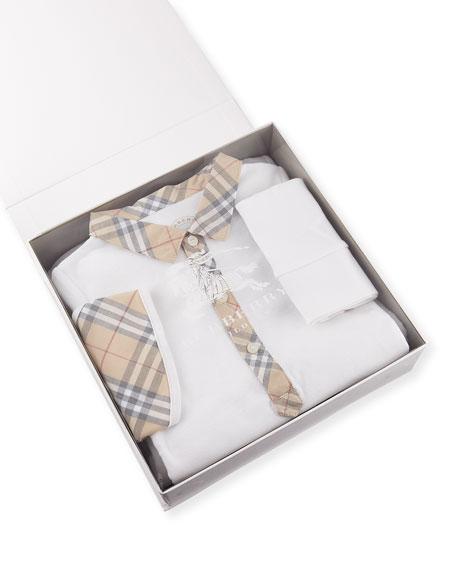 Zayden Cotton Layette Set, White, Size 6-24 Months