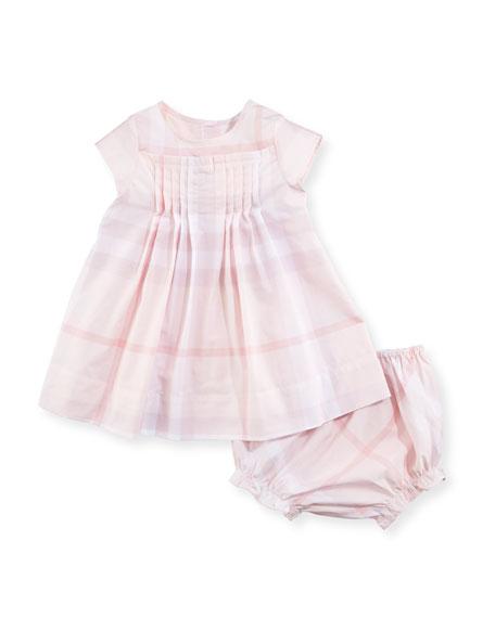 f6d5fa200ad Burberry Myla Pleated Check Dress w  Bloomers