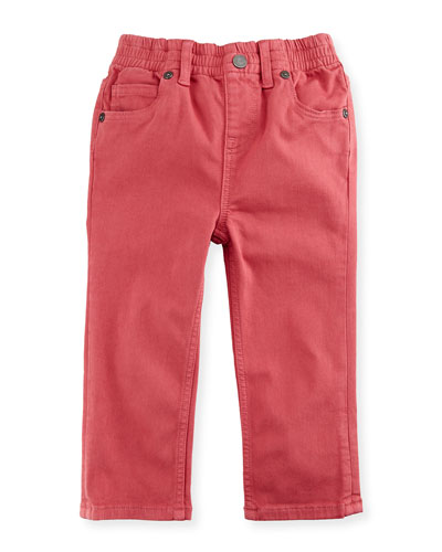 Lois Straight-Leg Stretch Jeans, Pink, Size 12M-3