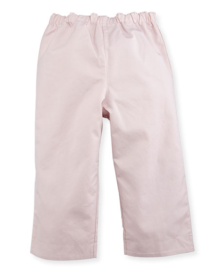 Darcy Reversible Solid-to-Check Pants, Light Pink, Size 3-24 Months