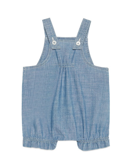 Chambray Bee & Rose Overalls, Blue, Size 3-24 Months
