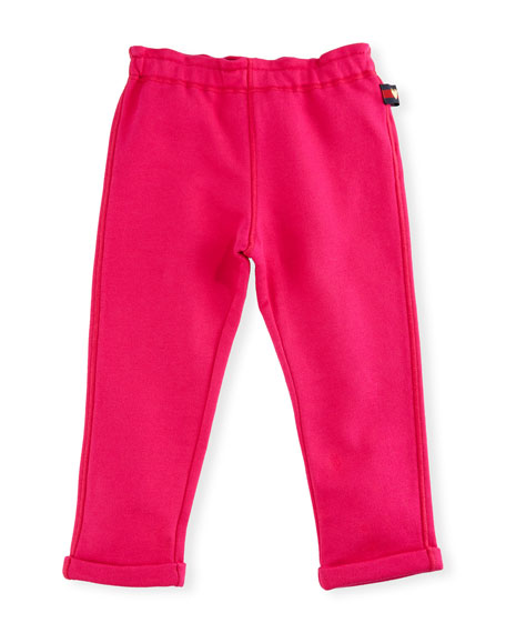 Gucci Felted Jersey Track Pants, Dark Pink, Size
