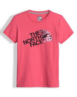 Crewneck Logo Jersey Tee, Pink, Size XXS-L