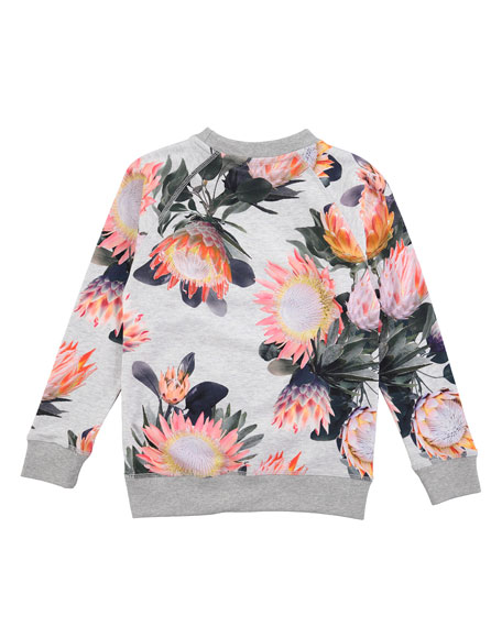 Raewyn Floral-Print Sweatshirt, Sizes 3-12