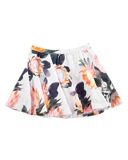 Bernadette Floral-Print Skirt, Sizes 2T/3T-11/12