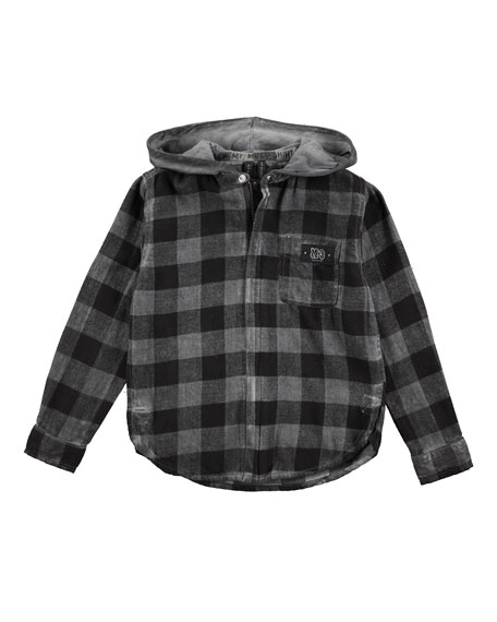 Molo Rick Hoodie Shirt/Jacket, Sizes 4-12