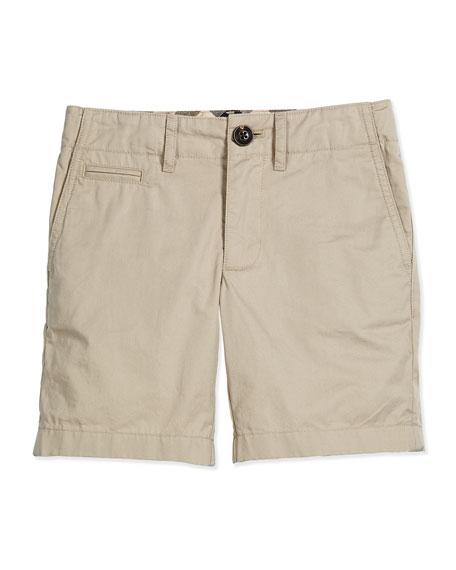 Tristen Cotton Chino Shorts, Taupe, Size 4-14
