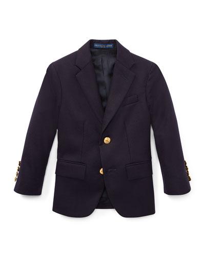 Lessona Wool Blazer, Navy, Size 2-4