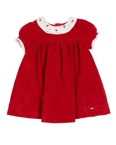 Cap-Sleeve Polka-Dot A-Line Dress, Size 3-24 Months