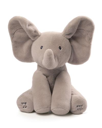 Flappy the Elephant Animated Plush  Gray
