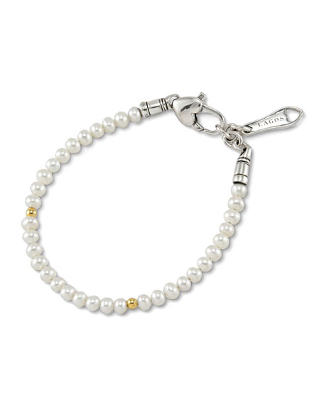 Lagos Kinder Pearl & Gold Cavier Bracelet