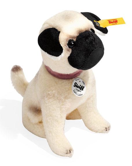 Little Lielou Stuffed Pug, White/Caramel