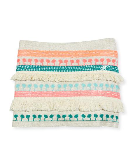 Billieblush Embroidered Fringe-Trim Mini Skirt, Multicolor, Size