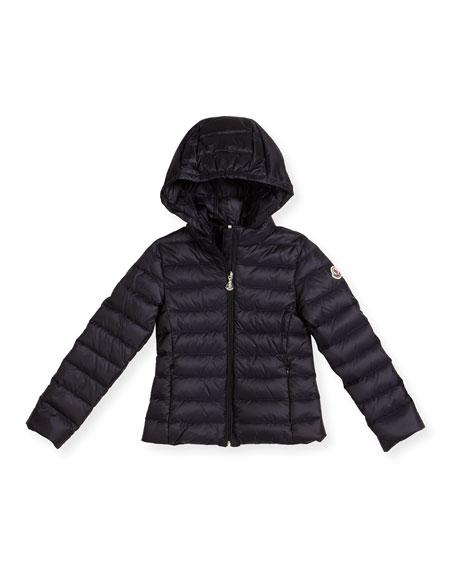 681a59395 Moncler Iraida Hooded Lightweight Down Puffer Jacket, Size 4-6