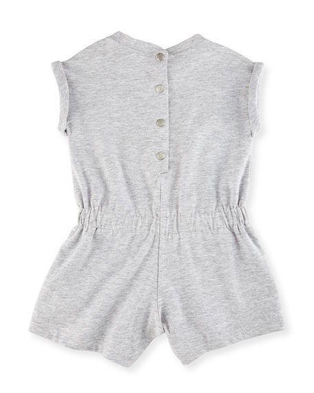 Heathered Jersey Logo Shortall, Gray, Size 3-18 Months