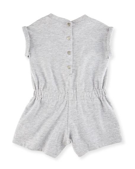 Heathered Jersey Logo Shortall, Gray, Size 3-18 Months