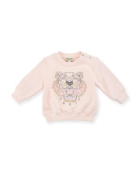 Kenzo Crewneck Jersey Pullover Sweatshirt, Pink, Size 3-18