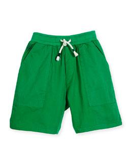 Blake Twill & Terry Shorts, Light Green, Size 8-12