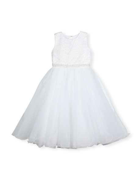Joan Calabrese Sleeveless Embellished Satin & Tulle Special
