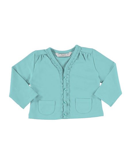 MAYORAL Soft Jersey Cardigan w/ Perfume Tee, Blue,