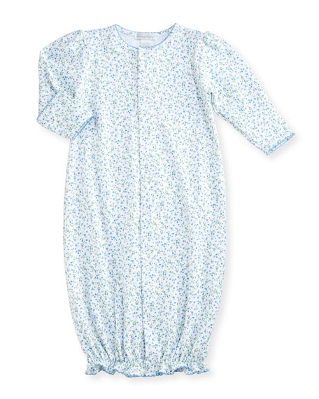 Spring Meadow Convertible Pima Sleep Gown, Blue/White, Size