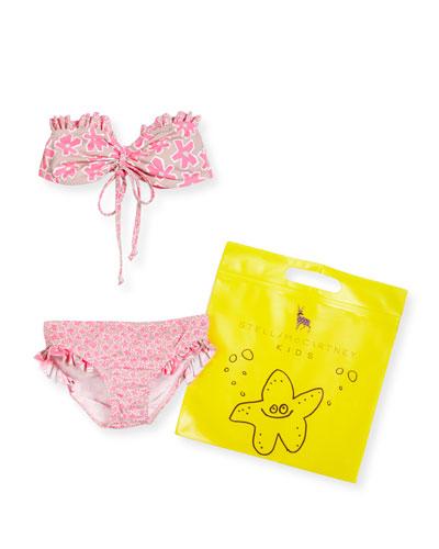 Marilene Daisy Halter Bikini, Pink, Size 4-12
