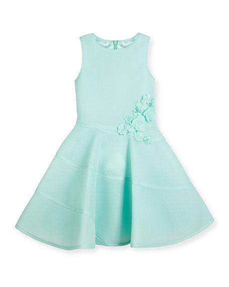 aebff0f15e6 David Charles Sleeveless Floral Mesh Neoprene Fit-and-Flare Dress ...