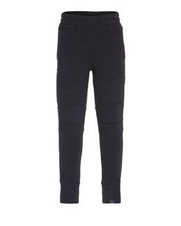 Axl Fitted Biker Sweatpants, Black, Size 4-12