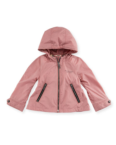 Bromington Hooded Lightweight Jacket, Blush, Size 12M-3