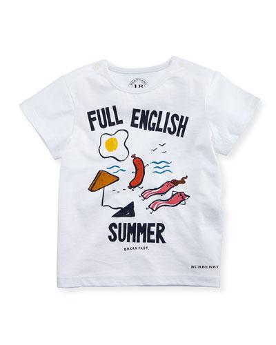 Full English Summer Tee, White, Infant/Toddler