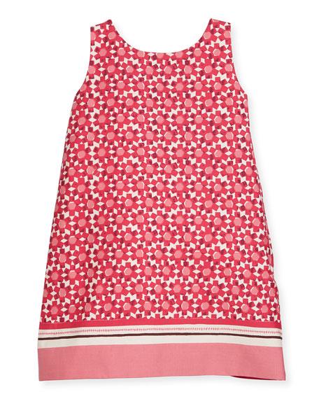 tanner floral tile shift dress, multipattern, size 7-14
