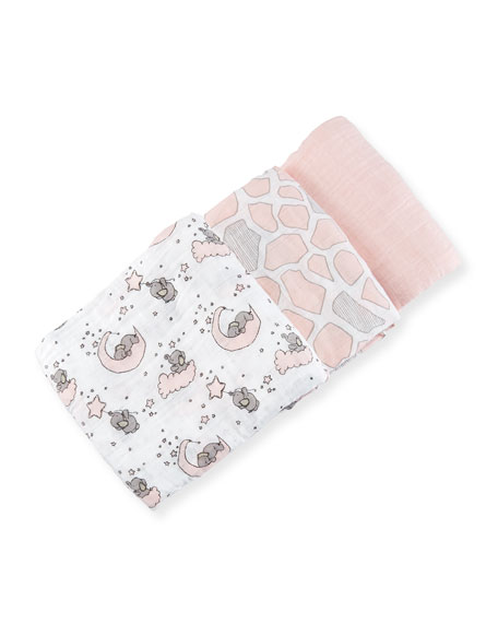 3-Piece Swaddle Blanket Set, Pink