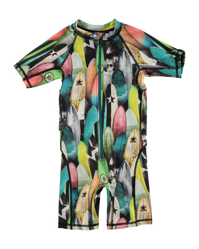 Neka Surfboard Short Wetsuit, Multicolor, Size 9M-4T