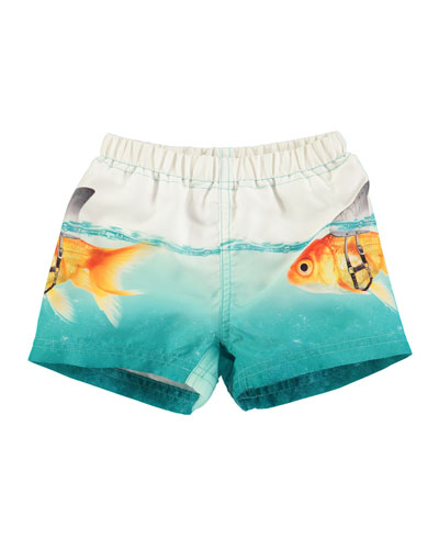 Newton Goldfish Swim Trunks, Blue, Size 3-24 Months