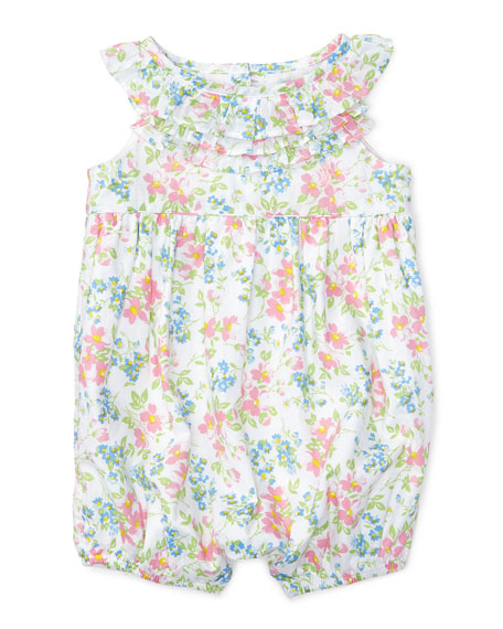 c3a5f5f8981 Ralph Lauren Childrenswear Sleeveless Floral Cotton Batiste Playsuit ...
